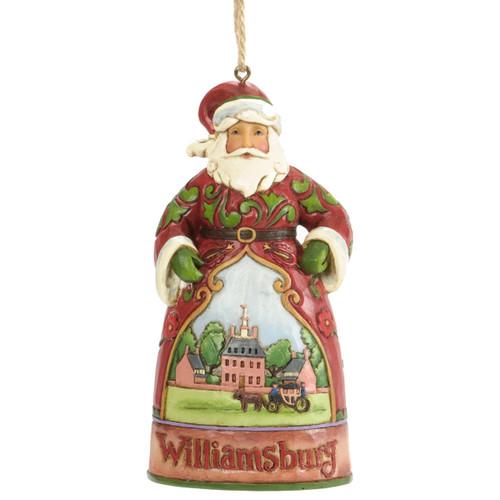 Jim Shore Santa Ornament with Governor's Palace Scene