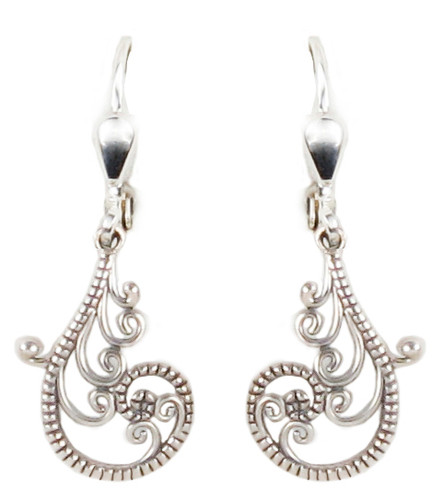 Silver Scroll Dangle Earrings | The Shops at Colonial Williamsburg