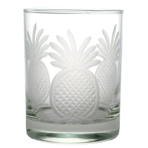 Pineapple Double Old Fashioned Glasses Set