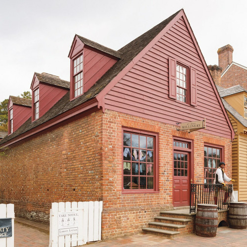 Restoring Williamsburg - Millinery Shop after the restoration