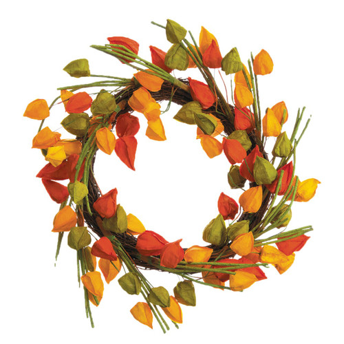 Fall Chinese Lantern Wreath | The Shops at Colonial Williamsburg