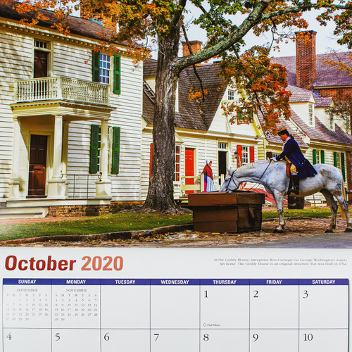 2020 Colonial Williamsburg Wall Calendar