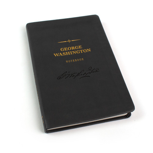 George Washington Signature Notebook - embossed leather notebook