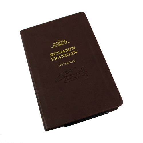 Benjamin Franklin Signature Notebook - embossed leather notebook