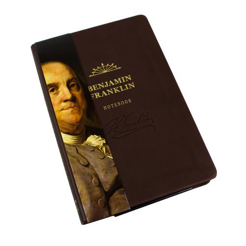 Benjamin Franklin Signature Notebook - portrait sleeve cover