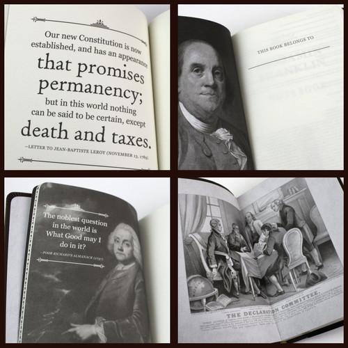 Benjamin Franklin Signature Notebook - inside view of illustrations
