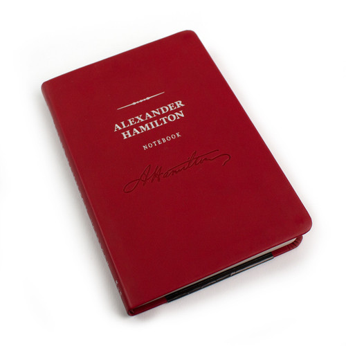 Alexander Hamilton Signature Notebook - Embossed leather notebook