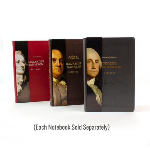 Alexander Hamilton Signature Notebook - collect all our signature notebooks! Choose from Ben Franklin, George Washington, or Alexander Hamilton. Sold separately.