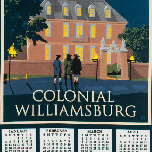 2020 Colonial Williamsburg Calendar Towel