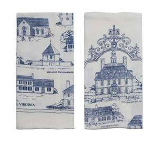 Historic Area Buildings Kitchen Towels   The Shops at Colonial Williamsburg