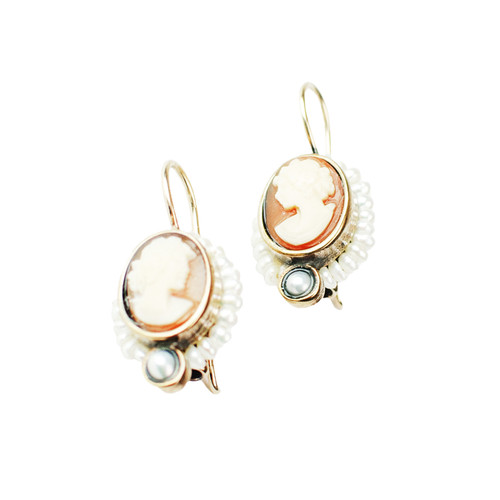 Cameo Shell Earrings
