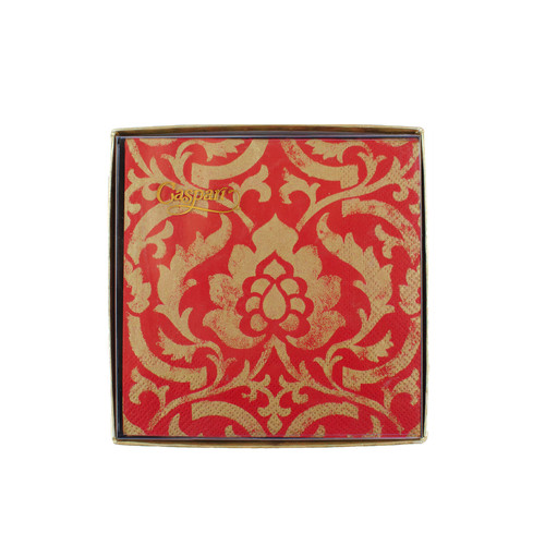 Red Baroque Cocktail Napkins | The Shops at Colonial Williamsburg