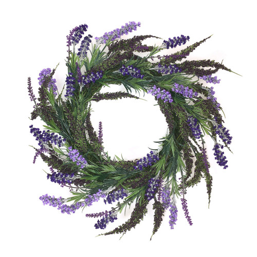 Lavender and Spring Greenery Wreath | The Shops at Colonial Williamsburg