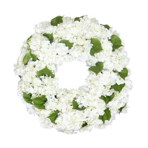 White Hydrangea Wreath