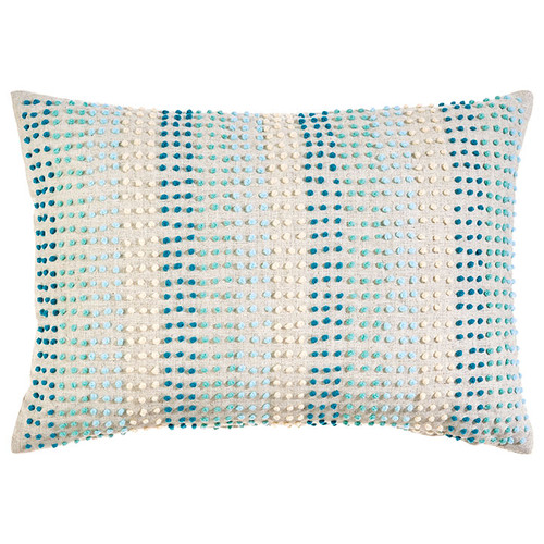 """Dotted Striped Pillow, 14"""" x 20"""" 