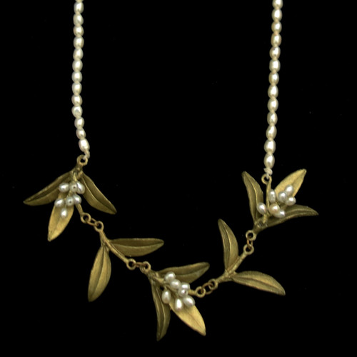 Michael Michaud Flowering Myrtle & Pearl Adjustable Necklace | The Shops at Colonial Williamsburg