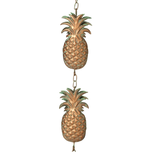 Gold Pineapple Garden Rain Chain