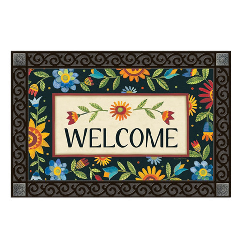Floral Welcome Doormat Insert | The Shops at Colonial Williamsburg