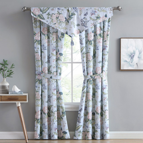 Blue Garden Images Window Treatments - Drapery Panels and Valances - WILLIAMSBURG by Royal Heritage | The Shops at Colonial Williamsburg