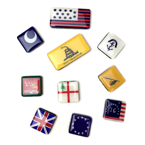Flags of the American Revolution Mini Magnets Set   The Shops at Colonial Williamsburg