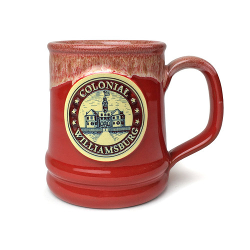 Colonial Williamsburg Seal Pottery Mug - Red | The Shops at Colonial Williamsburg