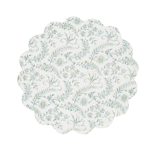 Braganza Table Linens - round placemat (reverse side) | The Shops at Colonial Williamsburg