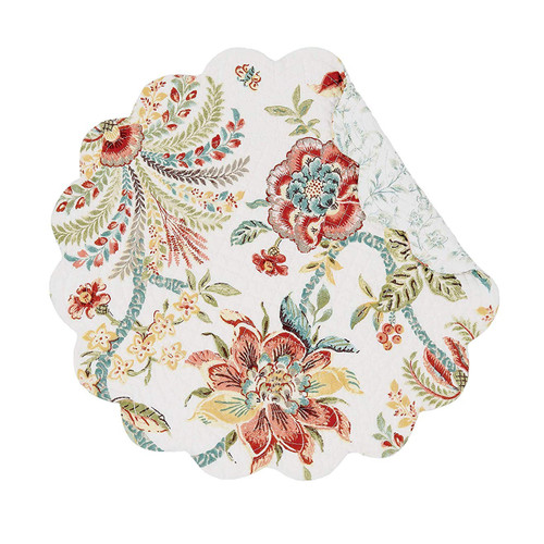 Braganza Table Linens - round placemat | The Shops at Colonial Williamsburg