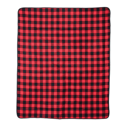 Black and Red Buffalo Check Picnic Blanket | The Shops at Colonial Williamsburg