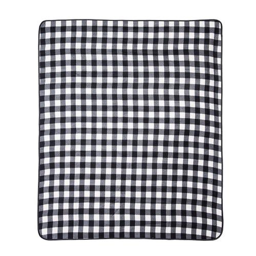 Black and White Buffalo Check Picnic Blanket | The Shops at Colonial Williamsburg
