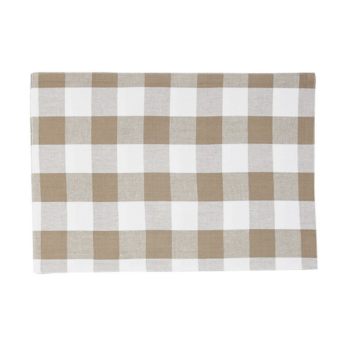 Franklin Buffalo Check Kitchen & Table Linens - Clay and White - placemat | The Shops at Colonial Williamsburg