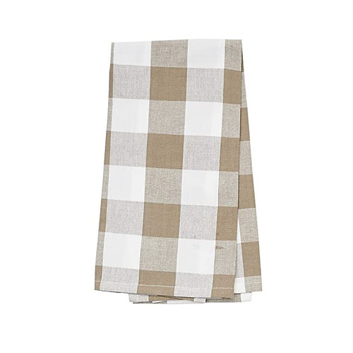 Franklin Buffalo Check Kitchen & Table Linens - Clay and White - kitchen towel | The Shops at Colonial Williamsburg