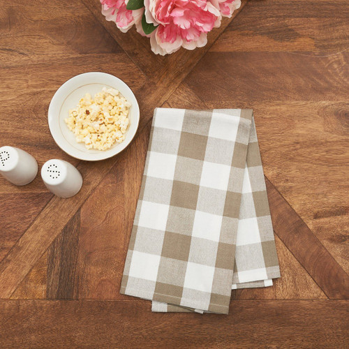 Franklin Buffalo Check Kitchen & Table Linens - Clay and White | The Shops at Colonial Williamsburg