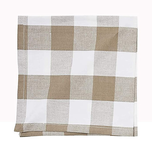 Franklin Buffalo Check Kitchen & Table Linens - Clay and White - napkin | The Shops at Colonial Williamsburg