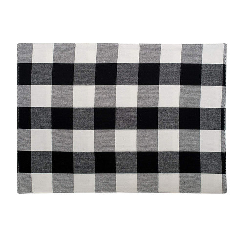Franklin Buffalo Check Kitchen & Table Linens - Black and White - placemat | The Shops at Colonial Williamsburg