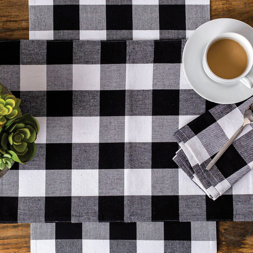 Franklin Buffalo Check Kitchen & Table Linens - Black and White    The Shops at Colonial Williamsburg
