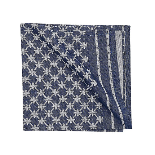 Markle Woven Table Linens - Navy - napkin | The Shops at Colonial Williamsburg