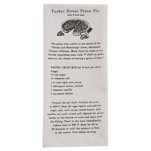 St. George Tucker House Pecan Pie Recipe Dishtowel | The Shops at Colonial Williamsburg