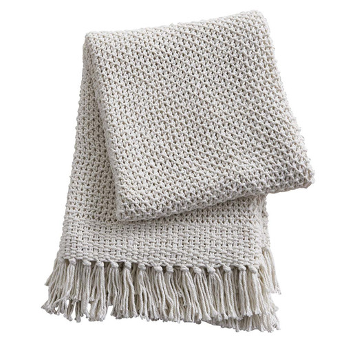 Open Weave Natural Throw Blanket | The Shops at Colonial Williamsburg