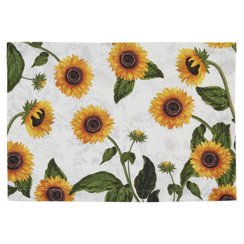 Sunflower Toile Table Linens | The Shops at Colonial Williamsburg