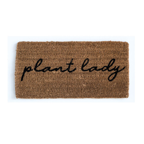 """""""Plant Lady"""" Coir Doormat 