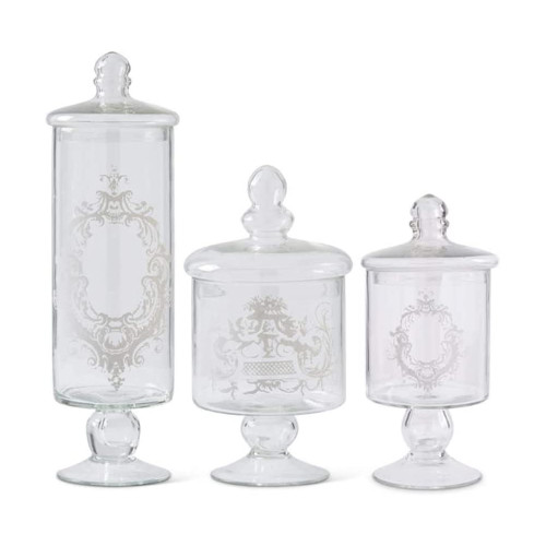 Lidded Glass Jars, Set of 3  | The Shops at Colonial Williamsburg