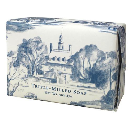 Fresh Powder Blue Toile Soap Bar   The Shops at Colonial Williamsburg