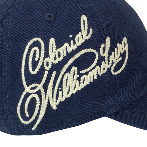 Colonial Williamsburg Adult Baseball Cap - Side Logo - Navy Blue   The Shops at Colonial Williamsburg