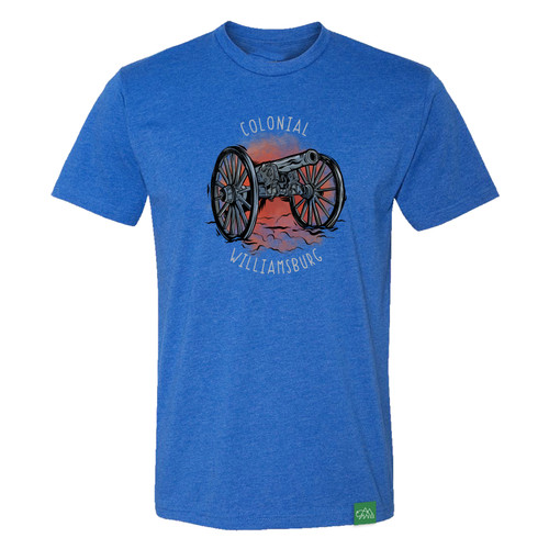 Colonial Williamsburg Revolutionary War Cannon Adult T-Shirt - Royal Blue | The Shops at Colonial Williamsburg