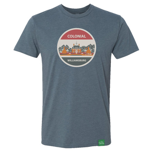 Colonial Williamsburg Vintage Governor's Palace Adult T-Shirt - Dark Grey | The Shops at Colonial Williamsburg
