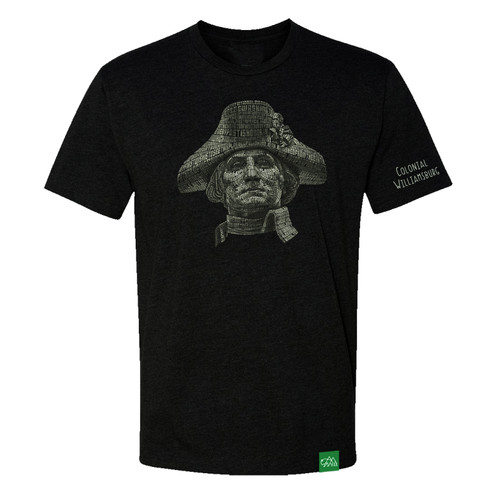 Colonial Williamsburg Adult T-Shirt - George Washington Word Portrait   The Shops at Colonial Williamsburg