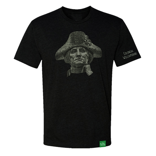 Colonial Williamsburg Adult T-Shirt - George Washington Word Portrait | The Shops at Colonial Williamsburg