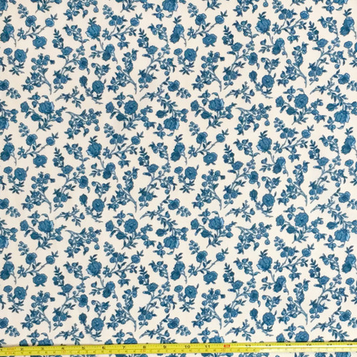 Hamilton Floral Blue Fabric | The Shops at Colonial Williamsburg