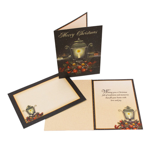 Karen Cruden Festive Lamp Post Boxed Christmas Cards | The Shops at Colonial Williamsburg