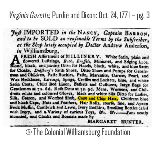 "18th Century Milan Straw Hat Blank - 5"" Brim | The Shops at Colonial Williamsburg"